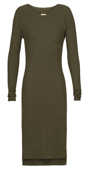 By Ti Mo Leisure Midi Dress in Forest
