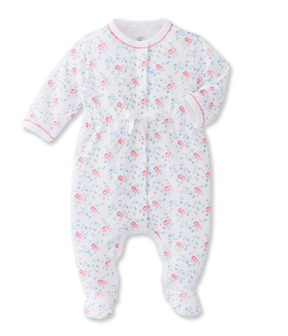 Petit Bateau Baby Girl Cotton Sleepsuit in Floral Print