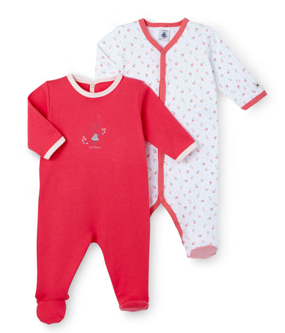 Petit Bateau Baby Girl Set of 2 Pyjamas in Pink