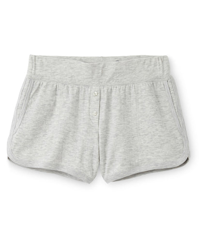 Petit Bateau Women Soft Cotton Shorts in Beluga Grey