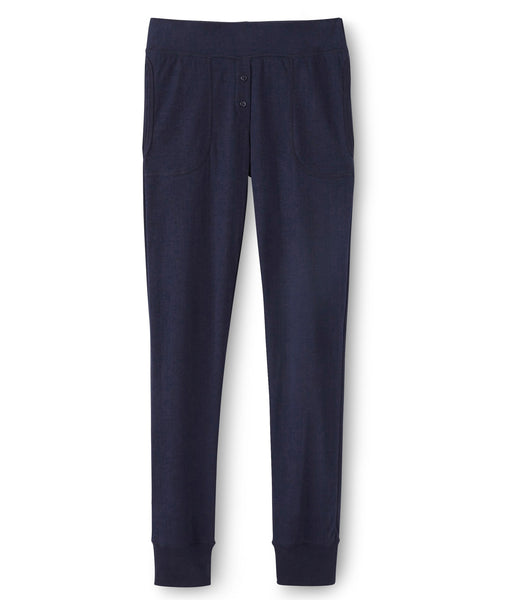 Petit Bateau Womens Soft Cotton Trousers in Navy