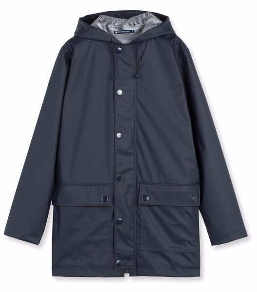 Petit Bateau Women Iconic Navy Raincoat