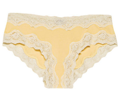 By Ti Mo 40's Lace Panty in Lemonade
