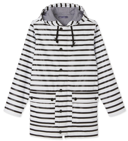 Petit Bateau Iconic Raincoat in Nautical Stripe