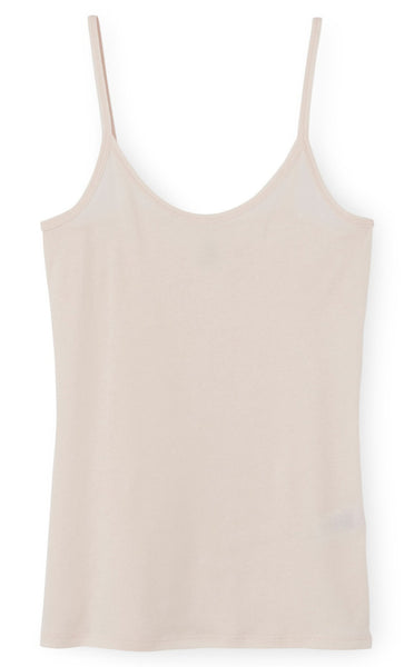 Petit Bateau Women Light Cotton Strap Top in Pale Pink or Smoking Blue