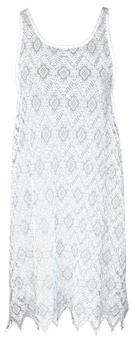 Watercult Nautical Retro Cotton Cover Up Dress in White