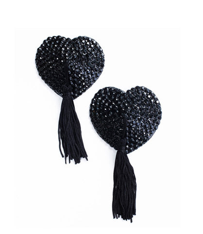 Bluebella Crystal Nipple Tassels in Black, Silver, Pink or Red