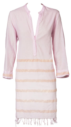 One Season Capri Stripe Cruise 89 Top in Rose & Gold
