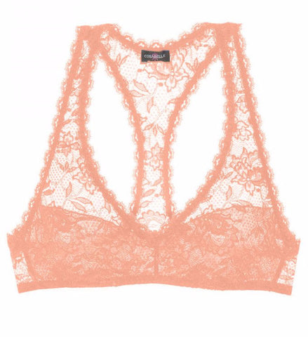 Cosabella Never Say Never Racie Racer Back Bra in Rose Sand
