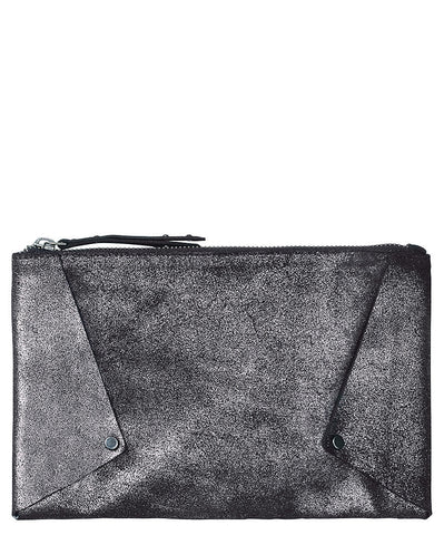 Becksondergaard Amalia Suede Clutch Bag in Black