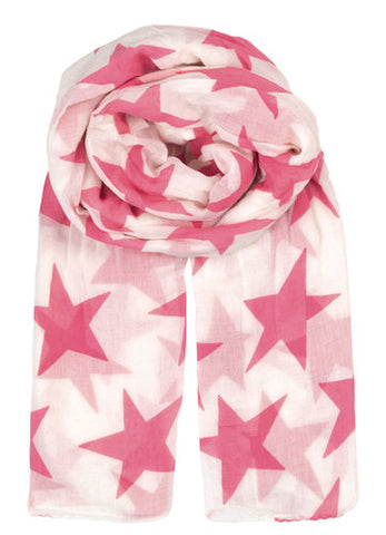 Becksondergaard Fine Twilight Cotton Scarf in Pink Carnation