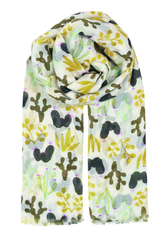 Becksondergaard Kamea Cotton Scarf in Pineneedle