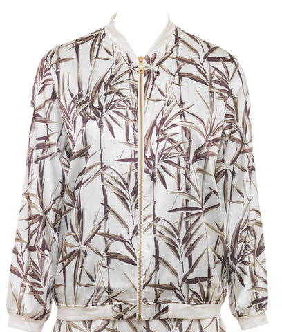Mimi Holliday Cap Ferrat Silk Bomber Jacket