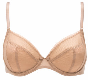 Chantelle Lingerie Parisian 4-Part Plunge Bra in Natural up to F Cup