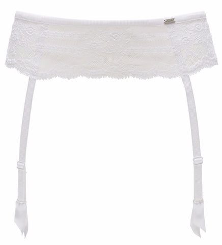 Chantelle Lingerie Idole Suspender Belt in White