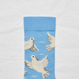 Bonne Maison Dove Ankle Socks in Azur