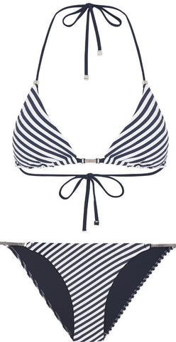Heidi Klum Swim Sun Dappled Decadence Triangle & String Bikini Brief Set