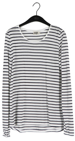 Twist & Tango Iris Tencel Top in Navy Stripe