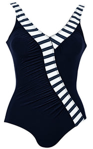 Anita Comfort Josetta Swimsuit in Navy Blue & White