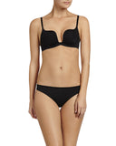 Pleasure State My Fit Knockout Scallop Push Up Bra in Black or Frappe Nude