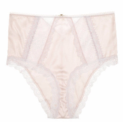Mimi Holliday True Love New Smooth High Waisted Peep Knicker in Ice Pink & White