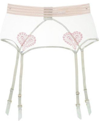 Mimi Holliday Fun House Wide Rainbow Suspender Belt