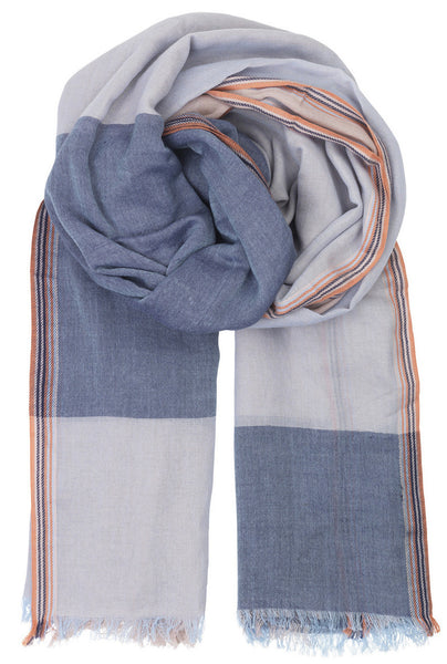 Becksondergaard Villion Cotton Scarf in Placid Blue