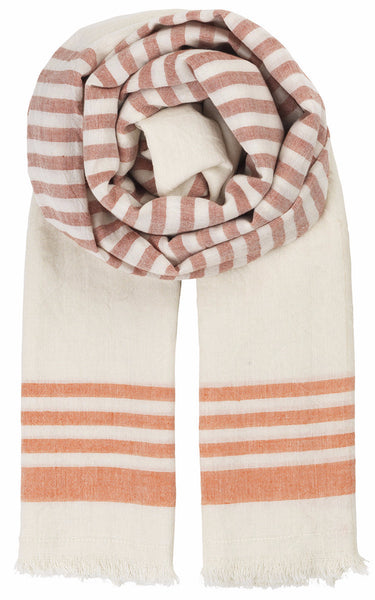 Becksondergaard Y-Richelle Cotton Scarf in Hot Sauce