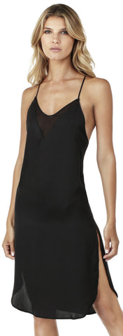DKNY Pajama Dressing Chemise in Black