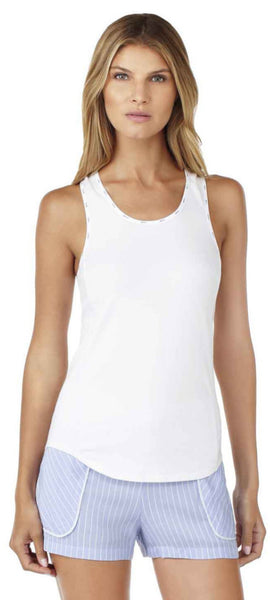DKNY The Lineup Tank & Boxer Set in Oxford Stripe
