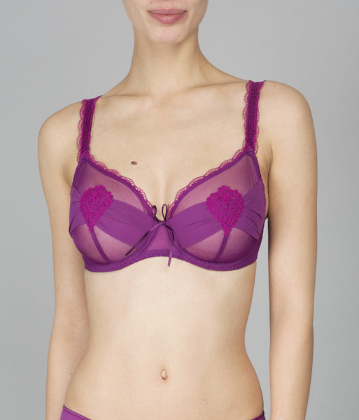 Maison Lejaby Elixir Attrape Coeur Underwired Full Cup Bra in Purple up to a G Cup