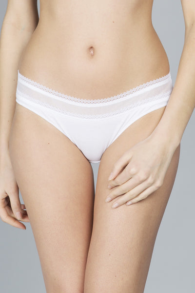 Maison Lejaby Cotonne-Moi Brief in White