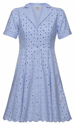 By Ti Mo Girly Kitchen Dress in Crisp Sky