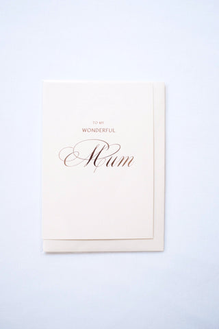 Dear To Me To My Wonderful Mother Greetings Card