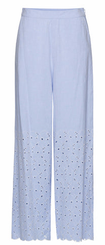 By Ti Mo Girly Culotte Trousers in Crisp Sky