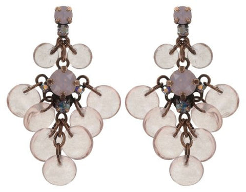 Konplott Aquarell Dangling Stud Earrings in Pink Antique Copper
