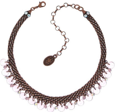 Konplott Aquarell Chocker Necklace in Pink Antique Copper