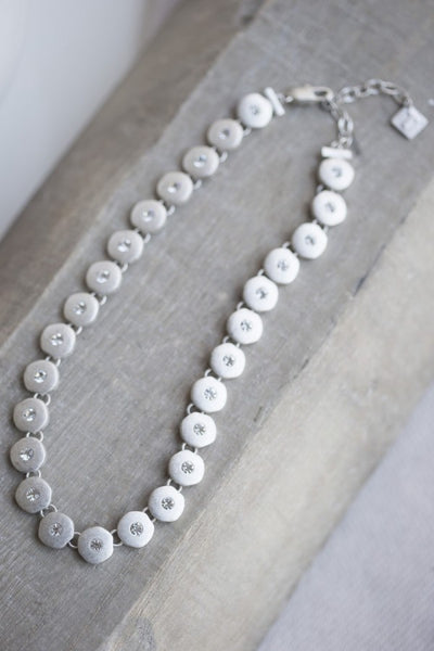 Tutti & Co Silver Necklace with Clear Crystal Inserts