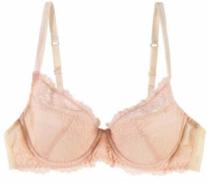 Mimi Holliday Sugared Almond Fully Padded Super Plunge Bra in Pink & Vanilla