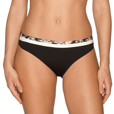 Prima Donna Flower Shadow Briefs in Black