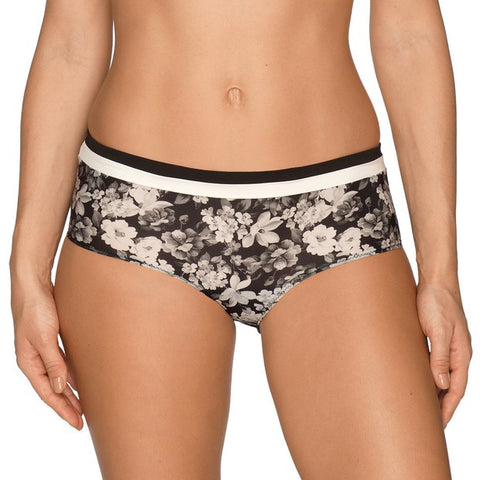 Prima Donna Flower Shadow Shorts in Black