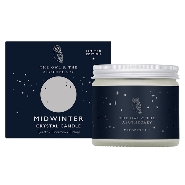 Midwinter Crystal Candle