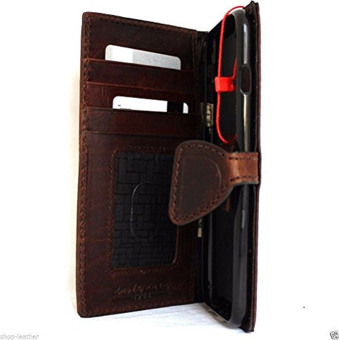 Genuine REAL leather iPhone 7 plus magnetic case cover wallet credit holder book luxury Rfid Pay premuine
