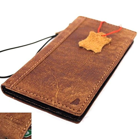 Genuine real leather case for samsung galaxy note 8 book wallet cover soft vintage brown cards slots slim daviscase