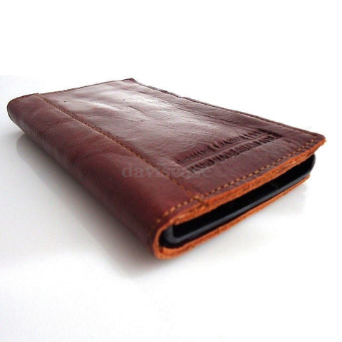 genuine natural leather Case for nokia lumia 920 book wallet stand holder new wine