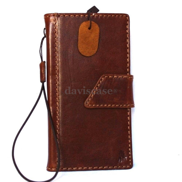 genuine italian leather hard Case for LG G3 slim cover book luxury pro wallet handmade MAGNET close
