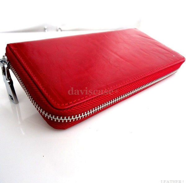 Genuine real leather woman purse tote wallet zipper Coins bag credit cards Money free shiping