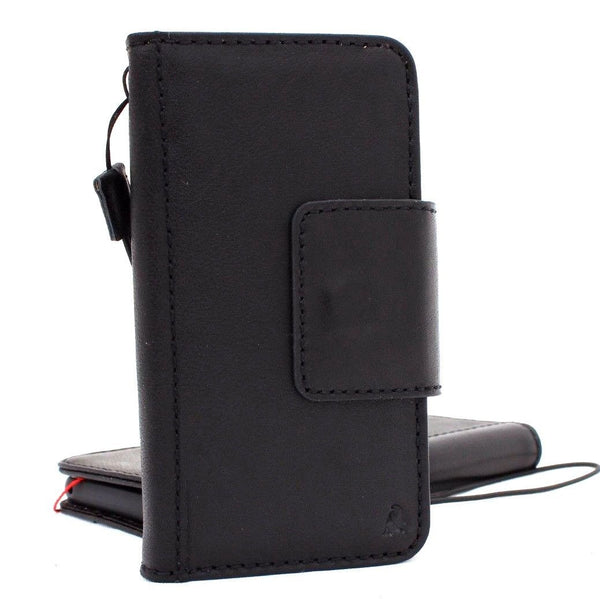 Genuine high quality leather Case for Samsung Galaxy S9 book Jafo design wallet handmade magnetic cover s Black jafo 48
