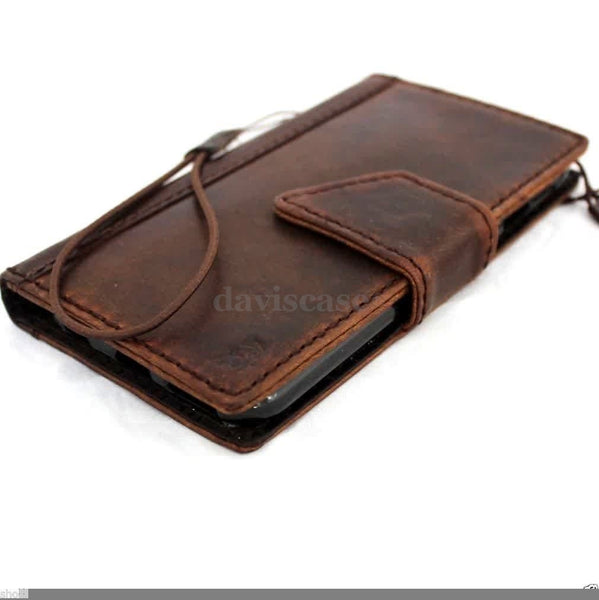 genuine italy leather case for iphone 6 cover book wallet credit card magnet luxurey flip free shipping  2014