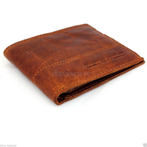 Men Money Genuine Leather wallet Billfold skin Design Removableid card many slot